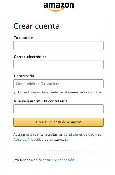 registrarse en amazon colombia