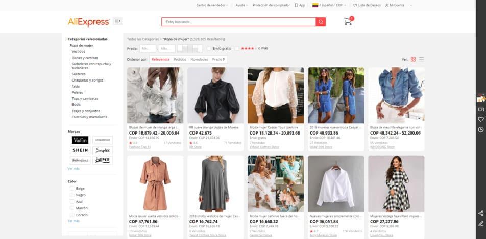 aliexpress ropa china de mujer